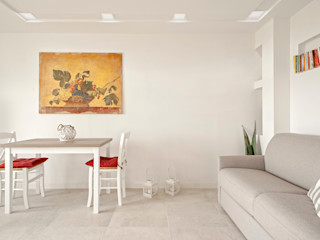 The View Luca Bucciantini Architettura d' interni Soggiorno minimalista Cemento Bianco