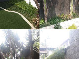 Reza Fauzi Tropischer Balkon, Veranda & Terrasse