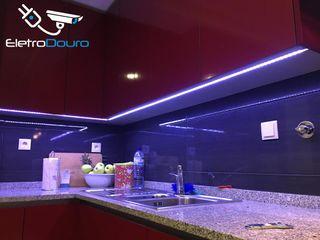 EletroDouro 廚房長凳套 木頭 Blue