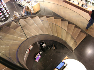 Allstairs Trappenshowroom Stairs Iron/Steel Transparent
