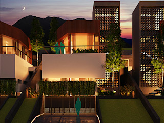 Slope House Sowi Gunung 2.0 Gubah Ruang Rumah tinggal Beton White