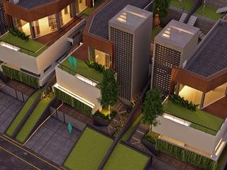 Slope House Sowi Gunung 2.0 Gubah Ruang Rumah tinggal Kayu Wood effect