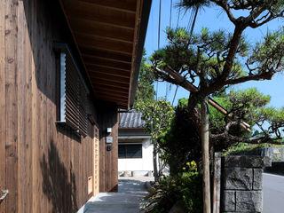 山道勉建築 Rumah kayu Kayu Brown