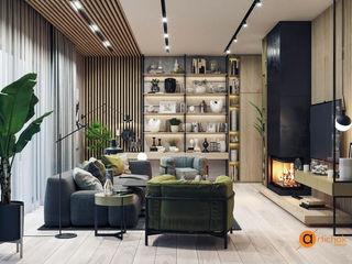 Artichok Design Ruang Keluarga Gaya Industrial