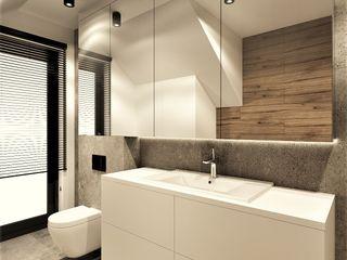 Wkwadrat Architekt Wnętrz Toruń Modern bathroom Concrete Grey