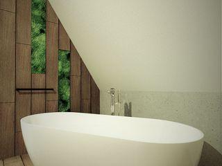 Wkwadrat Architekt Wnętrz Toruń Rustic style bathroom Wood Wood effect