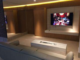 Elaine Hormann Architecture Living roomLighting Glass Amber/Gold