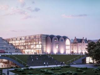 Biblioteca de la Universidad de Rostock GilBartolome Architects Escuelas de estilo moderno