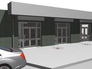 ARQUITECTO CHILLAN EIRL Centres commerciaux minimalistes Métal Vert