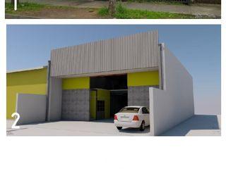 ARQUITECTO CHILLAN EIRL Espaces commerciaux industriels Béton armé Métallisé / Argent