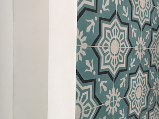 YANN Srl Built-in kitchens Concrete Turquoise