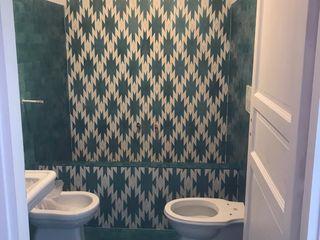 YANN Srl Eclectic style bathroom Concrete Green