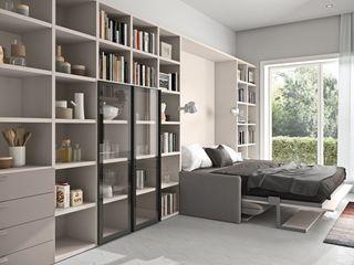 La prima casa L&M design di Marelli Cinzia Camera da letto piccola Bianco