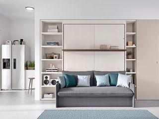 La prima casa L&M design di Marelli Cinzia Camera da letto piccola Legno composito Grigio