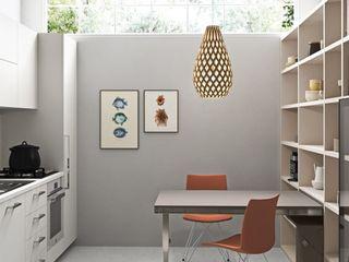 La prima casa L&M design di Marelli Cinzia Cucina piccola Legno composito Bianco