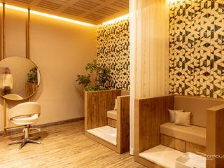 Atelier Susana Camelo Steam Bath Chipboard Wood effect