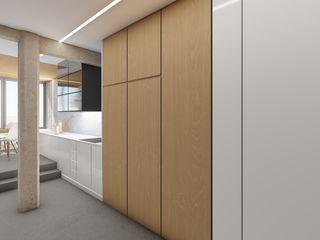 Barreres del Mundo Architects. Arquitectos e interioristas en Valencia. Kleine Küche Massivholz Braun