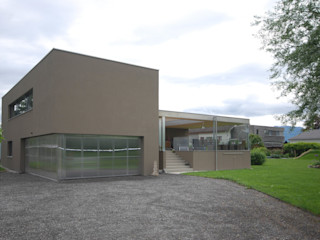schroetter-lenzi Architekten Single family home Bricks Brown