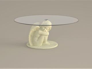 DABLEC di Tiziano Moletta ห้องนั่งเล่นโต๊ะกลางและโซฟา วัสดุสังเคราะห์ Beige