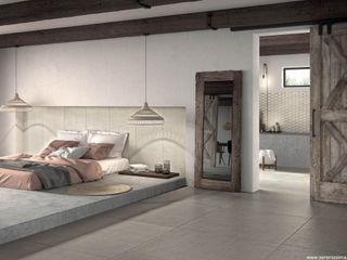 Dimensione Edilizia Modern style bedroom Tiles Grey