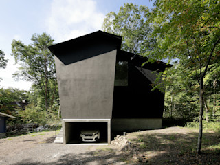 062m-houe in 軽井沢 atelier137 ARCHITECTURAL DESIGN OFFICE 北欧風 家 黒色