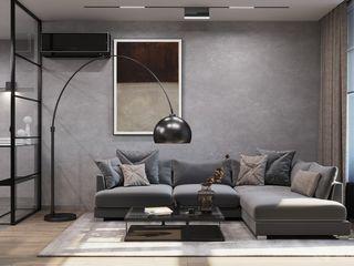 GM-interior Salon minimaliste Gris