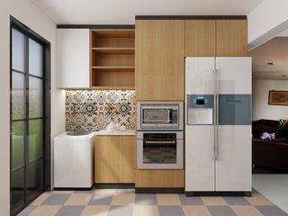 Swish Design Works Cuisine intégrée Contreplaqué Effet bois