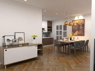 Swish Design Works Salle à manger scandinave Effet bois