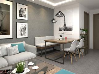 Swish Design Works Salle à manger moderne Gris