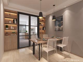 Swish Design Works Salle à manger moderne Contreplaqué Effet bois