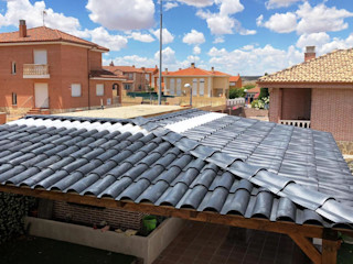 Roofeco System SL Pultdach Plastik Schwarz