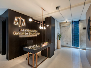 Mimoza Mimarlık Eclectic style offices & stores Grey