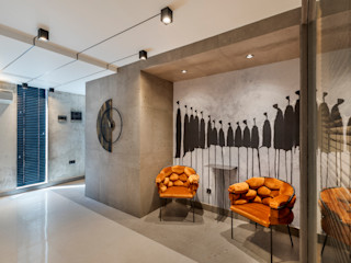 Mimoza Mimarlık Eclectic style offices & stores