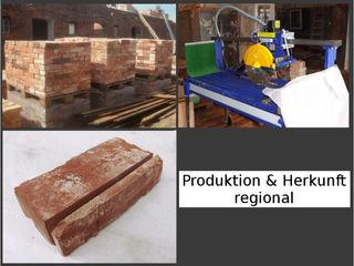 Historische Küchenrückwände aus antiken Ziegeln Antik-Stein Industriale Küchen Ziegel Rot