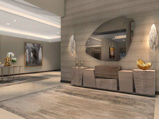 Spegash Interiors الممر الحديث، المدخل و الدرج