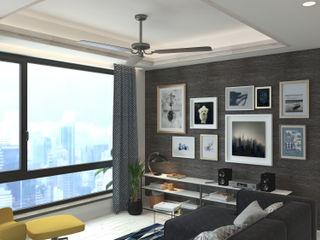 Nelson W Design Salas modernas Derivados de madera Beige