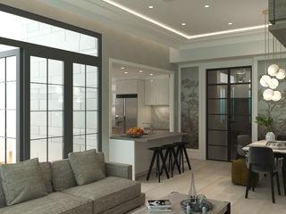 Nelson W Design Comedores de estilo moderno Derivados de madera Blanco
