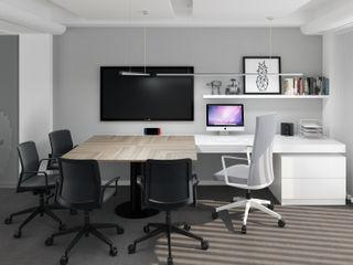 Estudio de Interiorismo para Oficinas Tecnológicas Tono Lledó Estudio de Interiorismo en Alicante Oficinas y tiendas de estilo moderno Madera Blanco
