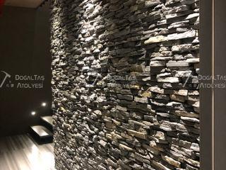 Doğaltaş Atölyesi Modern walls & floors Stone Grey
