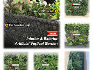 New Trendy Artificial Plants Panels For Vertical Landscape Sunwing Industries Ltd Garden Fencing & walls Synthetic Green