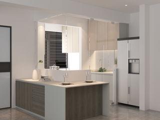 Swish Design Works Salle à manger minimaliste Contreplaqué Effet bois