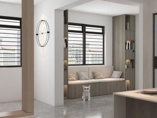 Swish Design Works Couloir, entrée, escaliers minimalistes Effet bois