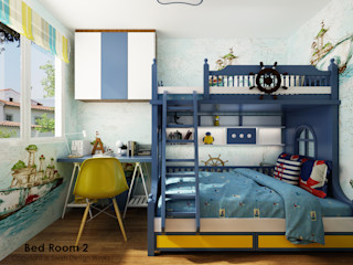 Swish Design Works Petites chambres Contreplaqué Bleu