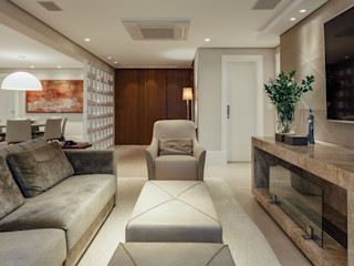 APARTAMENTO RESIDENCIAL - PORTO ALEGRE RUTE STEDILE INTERIORES Salas de estar modernas