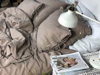 NatureBed Yatak OdasıTekstil Ürünleri Keten Kahverengi