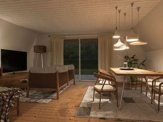Casa - interno – Svizzera KRISZTINA HAROSI - ARCHITECTURAL RENDERING Soggiorno moderno