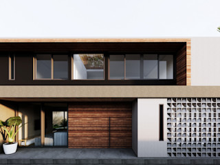 Saulo Magno Arquiteto Single family home Wood Grey