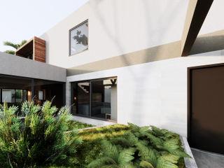 Saulo Magno Arquiteto Modern Conservatory Ceramic Grey