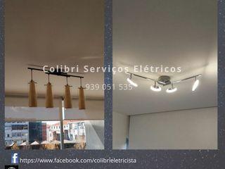 Colibri Serviços Elétricos Nowoczesne domowe biuro i gabinet Bambus Biały