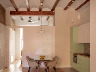 osb arquitectos Ruang Makan Gaya Mediteran Green